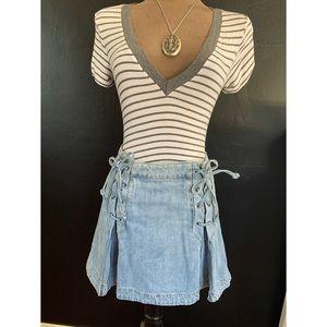 Free People Denim Skirt Size 8
